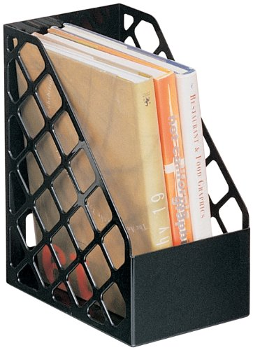 Officemate Recycled Large Magazine File, Black, 6 Each -