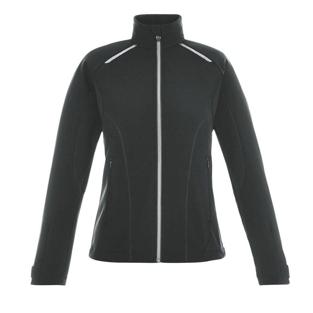 Ash City Ladies Excursion Soft Shell Jacket (X-Small, Black/Black/Carbon)