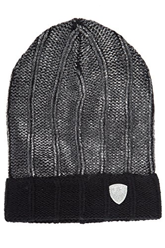 Emporio Armani EA7 women's beanie hat train fashion black US size S 285393 6A732 00020 by Emporio Armani