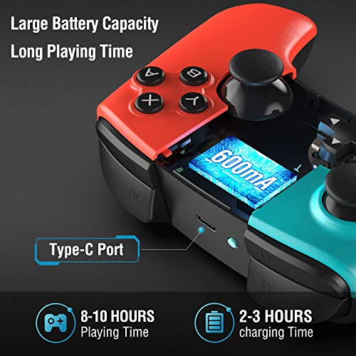 Wireless Controller for Nintendo Switch, Gamory Pro Controller for Switch, Supporting Motion Control, Dual Vibration & Turbo Function, Rechargeable Gamepad for Nintendo Switch Console [Upgraded]