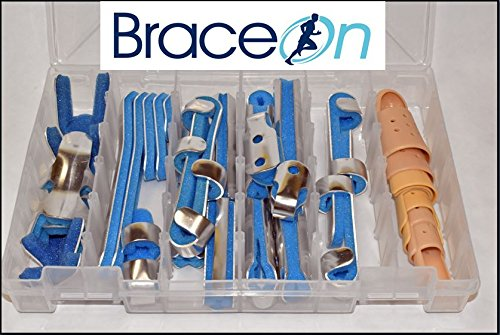 24 Piece Finger Splint Kit with Finger STAX 8 Piece Multi Pack by Brace On