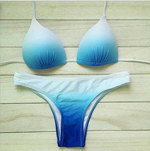 BUSL halter atractivo del cordón gradiente de traje de baño bikini