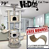 79'' Tall Hiding Cat Tree Special Cat Kitty Tree Scratcher Play House Condo Furniture Toy Bed Post House +FREE GIFT