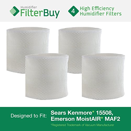 4 - MAF2 Emerson MoistAIR & 15508 Sears Kenmore Humidifier Wick Replacement Filters. Designed by FilterBuy to replace Emerson Part # MAF2 & Kenmore Part # 15508, Noma Part #EF2 (Kenmore Humidifier Filter 17006 compare prices)