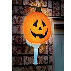 Seasons Sparkling Pumpkin Porch Light Cover Novelty