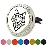 Air Freshener Aromatherapy Car Clip - Best Essential Oil Diffuser - Stainless Steel Animal Necklace Locket - Fashion Jewelry For Men & Women - Christmas Day Gift For Kids