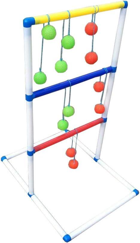 FixtureDisplays Ladder Toss Game Set with 6 Bolos Backyard Family Kid Games 16856-NPF