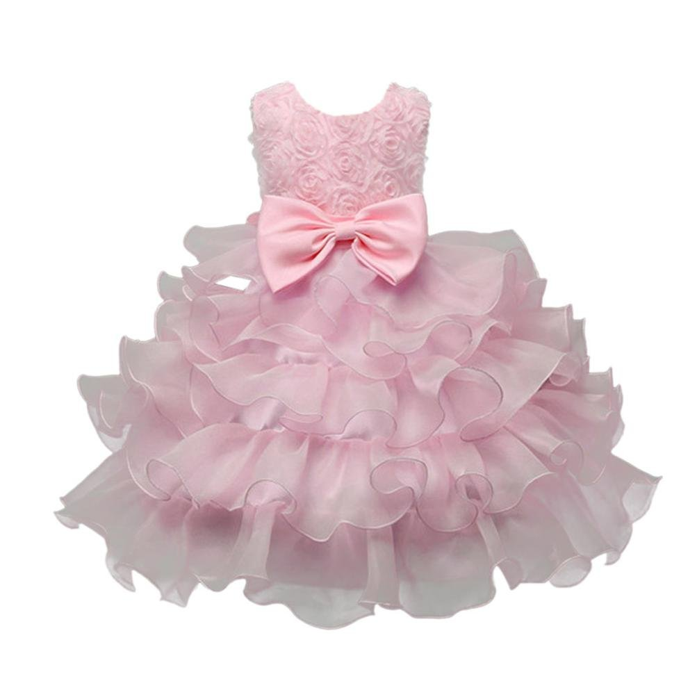 XILALU Kids Baby Girls Flower Birthday Wedding Bridesmaid Pageant Formal Dress
