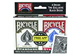 Bicycle Playing Cards - Poker Size - 4 Pack