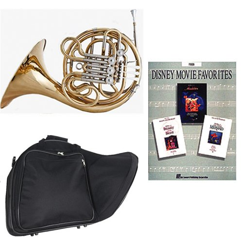 Band Directors Choice Double French Horn Key of F/Bb - Disney Movie Favorites Pack; Includes Intermediate French Horn, Case, Accessories & Disney Movie Favorites Book by Double French Horn Packs
