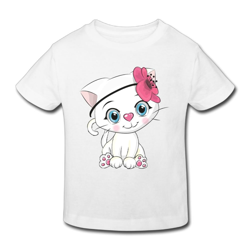 Michgton Lovely Cat Girl Summer Crew Classic Shirt Short Sleeve for 2-6 Years