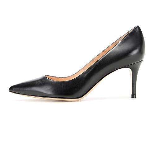reputable site e8e26 b4ebb elashe Women Kitten Heels Pumps   Pointed Toe Stiletto   6.5 ...