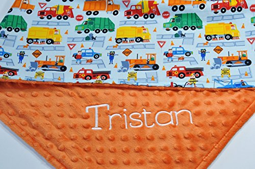 Personalized baby blanket - Personalized minky baby blanket