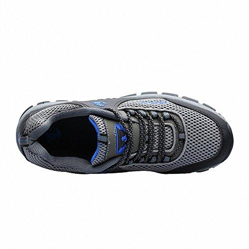 Ben Sports Zapatillas de senderismo Botas de senderismo Correr en montaña para Hombre,37-46 Gris 2