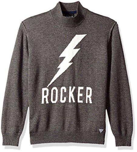 GUESS Big Boys' Rocker Jacquard Sweater, Rocker Fantasy, (Guess Wool Sweater)
