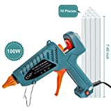 Hot Glue Gun Kits, 10pcs Glue Sticks High Temperature Melting Glue Gun 100-Watt Industrial Glue Gun Flexible Trigger for DIY Small Craft Projects&Sealing and Quick Repairs
