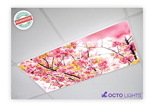 (Flower 006 2x4 Flexible Fluorescent Light Cover)