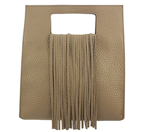 Sac main Taupe cuir Italie femme a CHLOLY Poncacola PwfdP