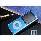 California Sugar Portable Mini 16GB MP3 MP4 Media Music Player for Travel Work Running Sport(Blue)