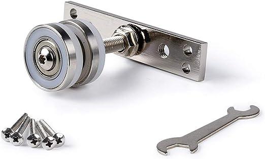 wheel Polea Universal de Puerta Plegable, polea de riel Colgante de Nylon con Puerta corredera: Amazon.es: Hogar