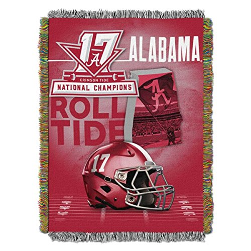 Univeristy Of Alabama Roll Tide NCAA Football 2017 National Champions Woven Tapestry Throw