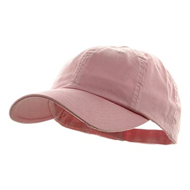 2837539f Image Unavailable. Image not available for. Colour: MG Women's Low Profile  Dyed Cotton Twill Baseball Cap Hat (Light Pink)