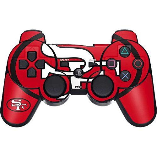 Skinit San Francisco 49ers Retro Logo PS3 Dual Shock Wireless Controller Skin - Officially Licensed NFL Gaming Decal - Ultra Thin, Lightweight Vinyl Decal Protection