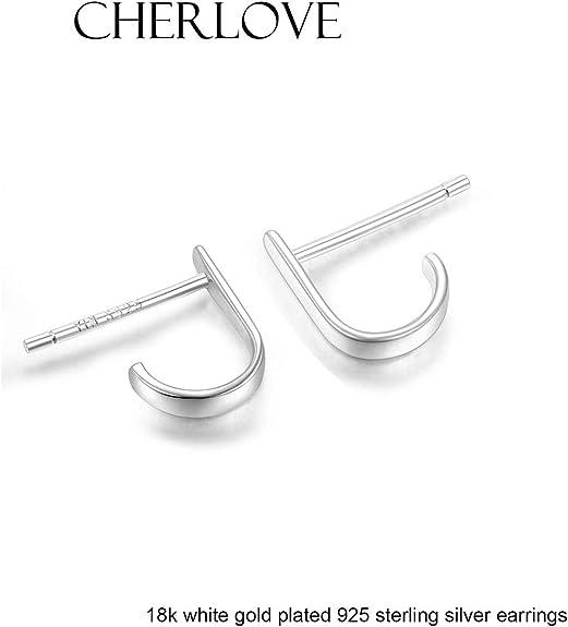 Sterling silver 925 CZ Bar Earrings Hook Earring simple Earrings E38
