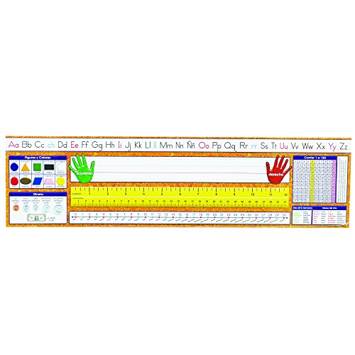 Traditional Wide Desk - NORTH STAR TEACHER RESOURCE Spanish Desk Plate Traditional Manuscript Learning Aid