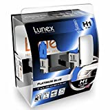 LUNEX H1 448 PLATINUM BLUE Headlight Halogen Bulbs 12V 55W P14,5s Max Blue Effect 4700K duobox (2 units)