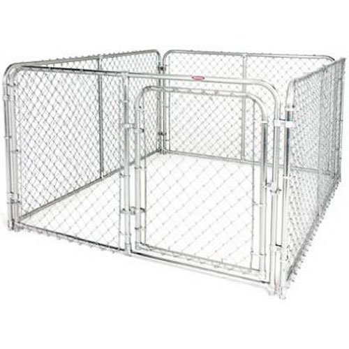 Stephens Pipe & Steel DKS16084 Silver 6 x 8 x 4 Dog Kennel ()