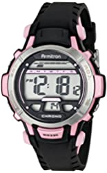 Armitron Sport Women's 45/7036PNK Pink Accented Black Resin Strap Digital Chronograph Sport Watch
