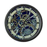 CafePress Cogs and Gears Large Wall Clock - Standard Black