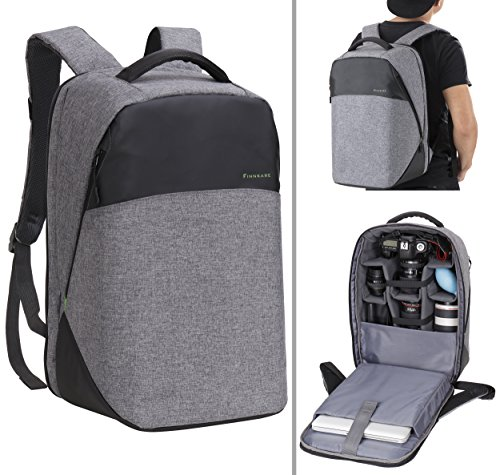 Finnkare New Polyester Outdoor Large DSLR SLR Backpack Padde