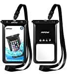 Mpow [ upgraded ] Floating Waterproof Case, IPX8 Waterproof Phone Case Underwater New Type TPU Dry Bag for iPhone 8/7/7plus/6s/6/6s plus Samsung galaxy s8/s7 LG V20 Google Pixel HTC10 (2-Pack)