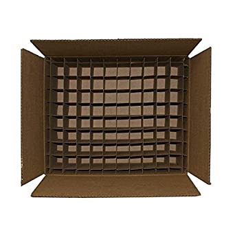 Caja de cartón con divisores 80 17,5 x 17 x 6 (Fits 80 2 oz Boston redonda botellas) - Paquete de 20: Amazon.es: Amazon.es