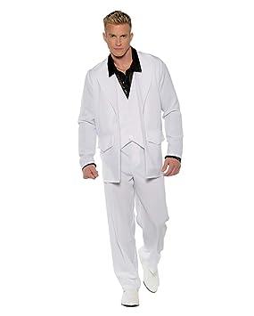 Traje De Hombre Blanco De Los Años 70 One Size: Amazon.es ...