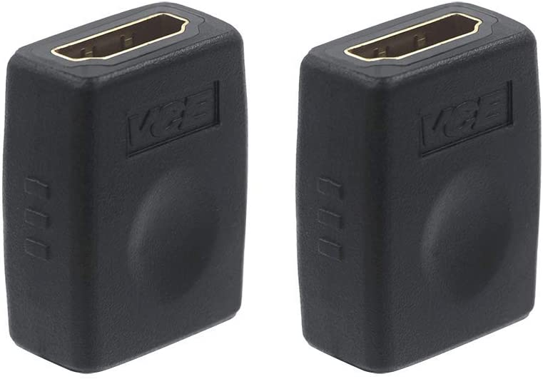 VCE HDMI Coupler HDMI 4K Female to Female Connector Adapter 2 Pack: Electronics