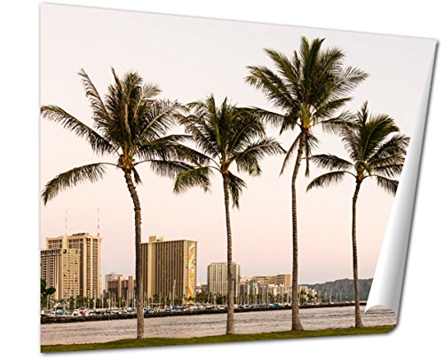 Ashley Giclee Fine Art Print, Yachts In Ala Moana Harbor Frame Diamond Head, 16x20, - Best Moana Buy Ala
