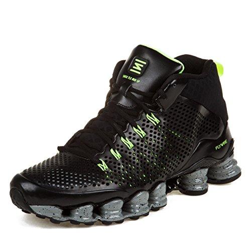 "Nike Mens Shox TLX Mid SP ""Flywire Mesh"" Black/Reflect Si..."