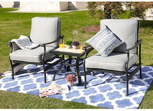 LOKATSE HOME 3 Piece Outdoor Furniture Set