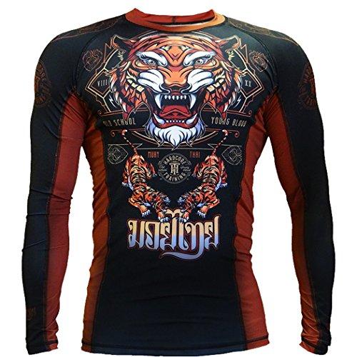Hardcore Training Rashguard Tiger-m MMA Training Fitness ()