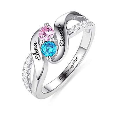 Amazon Com Top Wh 925 Silver Ring Personalized Couples
