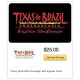 Texas De Brazil Gift Cards - E-mail Delivery offers