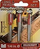Milescraft 2210 Long Reach Router Bit Set