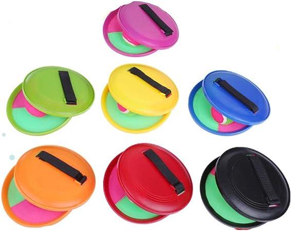 Color Aleatorio LIOOBO Juego de Lanzamiento y Captura de Bolas Juego de Lanzamiento para ni/ños Jard/ín al Aire Libre Actividad de Juego