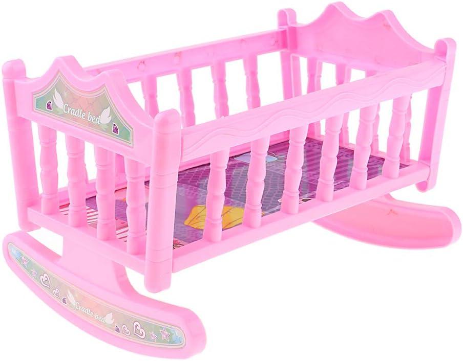 Auch F/ür Puppenhaus Infant Schlafzimmer M/öbel Spielzeug Decor F/ür 6 8 Zoll Puppe MagiDeal 2 St/ücke Sch/öne Reborn Puppe Bett Babypuppen Wiege Bettw/äsche Set