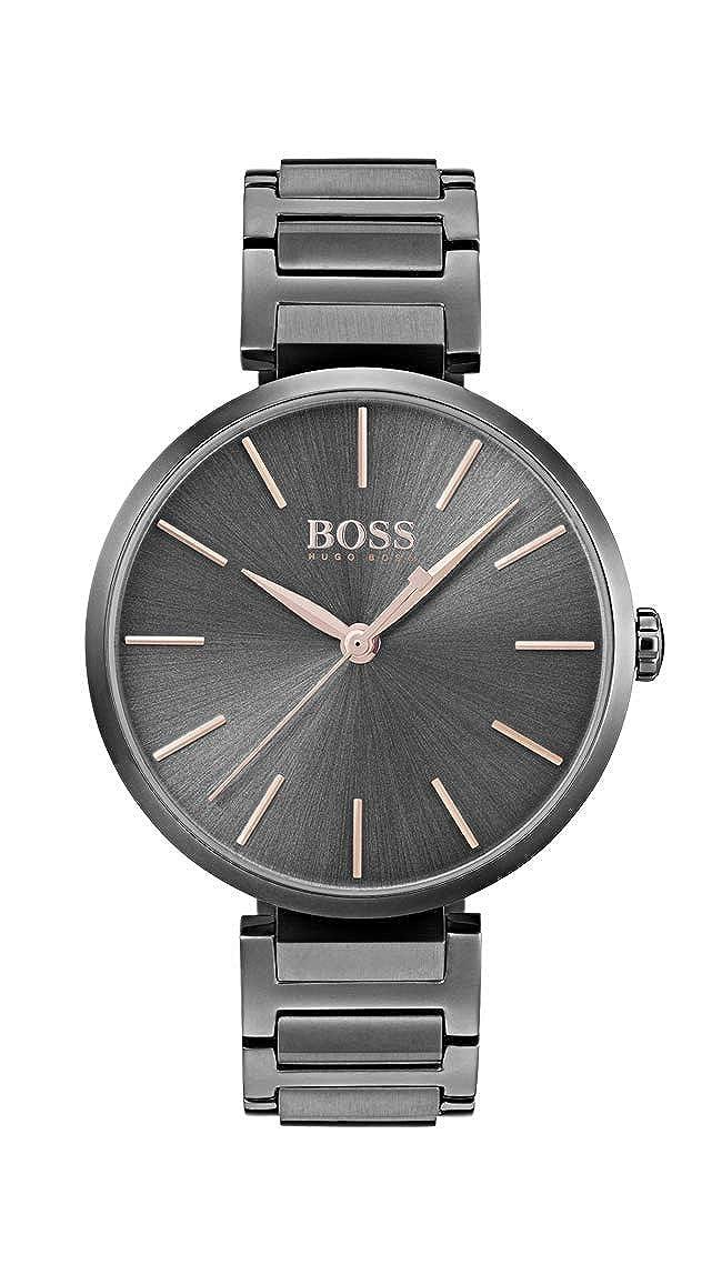 Hugo BOSS Reloj Análogo clásico para Mujer de Cuarzo con Correa en Acero Inoxidable 1502416: Amazon.es: Relojes