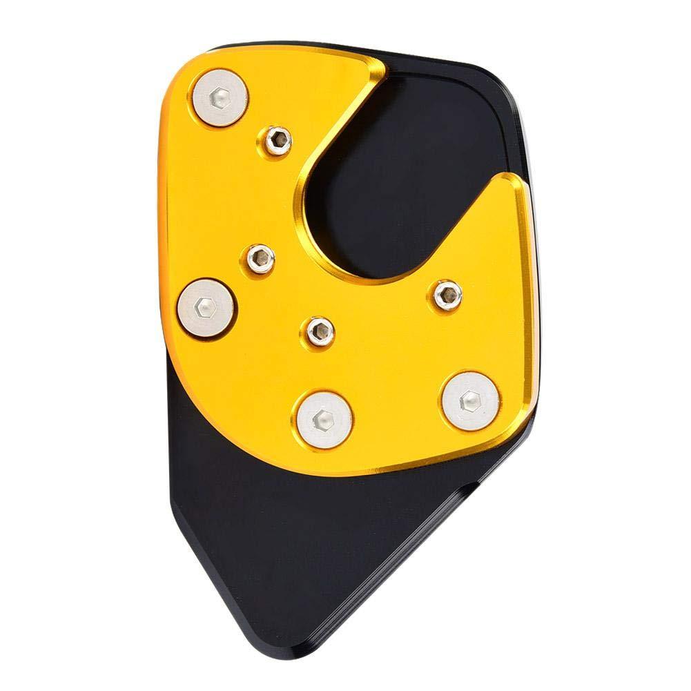 Rojo Fydun Soporte Lateral para Motocicleta Antideslizante Kickstand Pad Pie Soporte Lateral Extensi/ón Kickstand Pad para NC750X X-ADV 17-19