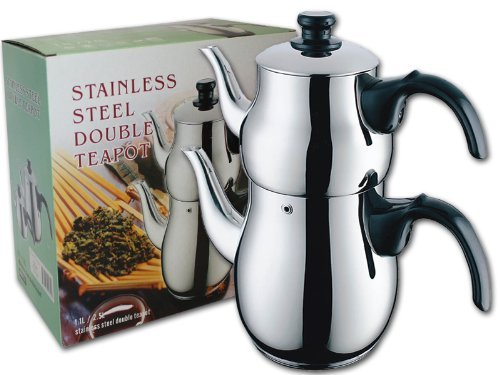 Stainless Steel Double Teapot / Samovar / Tea Maker (Turkish Tea Kettle Electric compare prices)